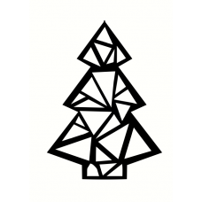 3mm mdf Geometric Christmas Tree Christmas Shapes