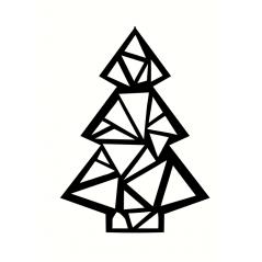 3mm mdf Geometric Christmas Tree Christmas Shapes