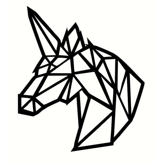 3mm mdf Geometric Unicorn Head Animal Shapes