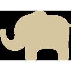 3mm MDF Elephant (Trunk Up) Animal Shapes