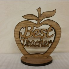 Oak Veneer - Best Teacher - Freestanding Apple Teachers