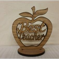 Oak Veneer - Best Teacher - Freestanding Apple Teachers