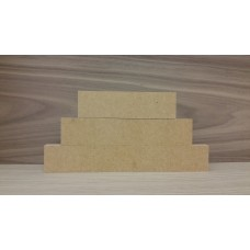 3 Tier MDF Separate Block Set (40mm high x 100mm, 150mm, 200mm) Wooden Blocks, Tea Lights and Stacking Block Sets