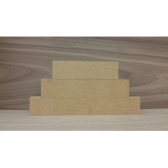 3 Tier MDF Separate Block Set (40mm high x 100mm, 150mm, 200mm)