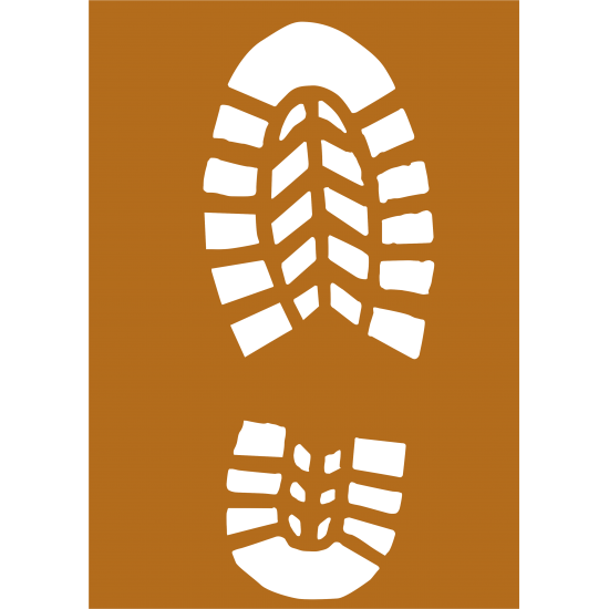3mm mdf A4 Size Boot Print Christmas Shapes