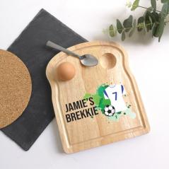 Printed Breakfast Board -  Football Shirt Design