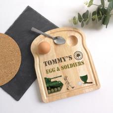 Printed Breakfast Board - Soldier Design Personalised and Bespoke
