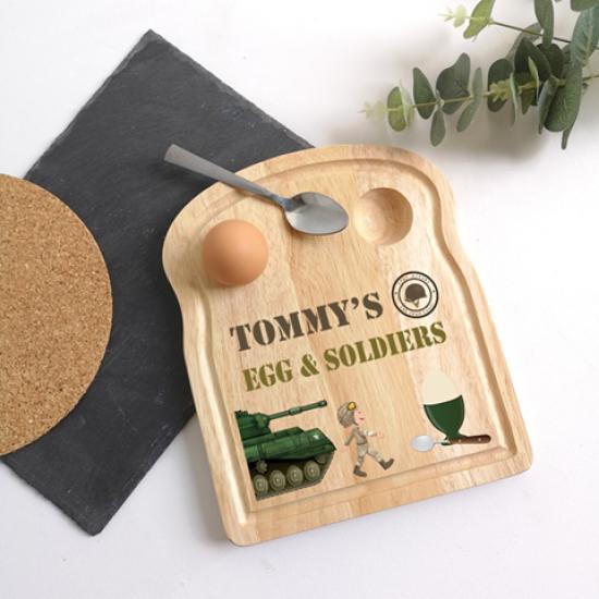 Printed Breakfast Board - Soldier Design