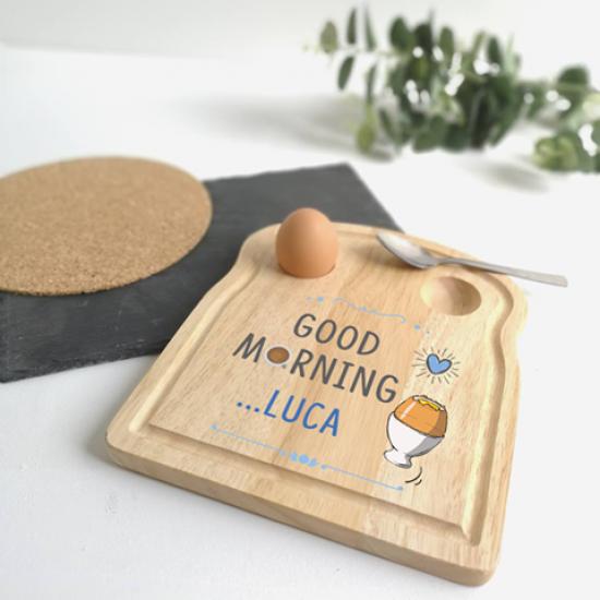 Printed Breakfast Board -  Good Morning Design