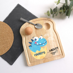 Printed Breakfast Board - Dinosaur Design