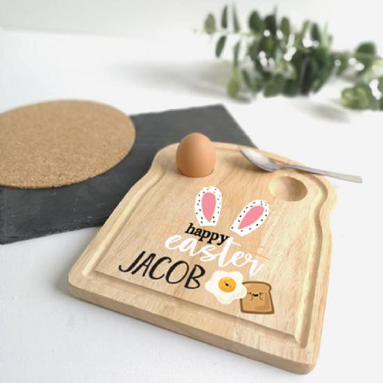 Printed Breakfast Board - Easter Bunny Ears Design Personalised and Bespoke