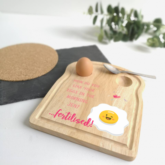 Printed Breakfast Board -  Fertilised Eggs Design