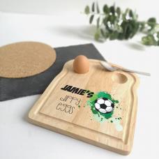 Printed Breakfast Board -  Football Design Personalised and Bespoke