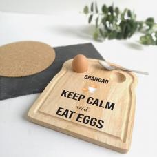 Printed Breakfast Board - Keep Calm Design Personalised and Bespoke