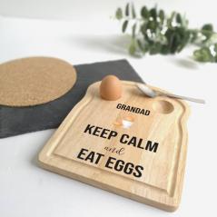 Printed Breakfast Board - Keep Calm Design