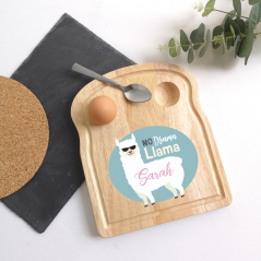 Printed Breakfast Board -  Llama Design