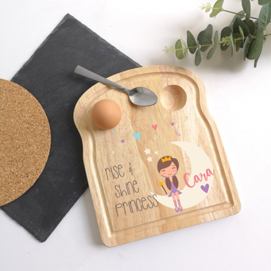 Printed Breakfast Board - Princess Design Personalised and Bespoke