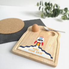 Printed Breakfast Board - Rocket Design Personalised and Bespoke