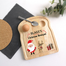 Printed Breakfast Board - Santa Design Christmas Shapes