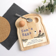Printed Breakfast Board - Spaceman Design Personalised and Bespoke