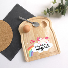 Printed Breakfast Board - Unicorn Design Personalised and Bespoke