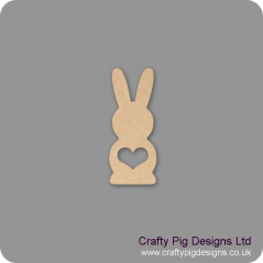 18mm Freestanding Tall Bunny with Heart Shape Cut Out Easter