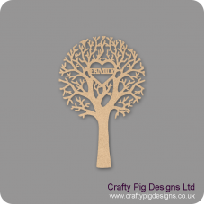 """3mm MDF """"FAMILY"""" - Cut Out Tree  Trees Freestanding, Flat & Kits"""