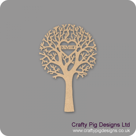 3mm Mdf Family Cut Out Tree