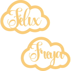 Personalised Cloud (material options available) Personalised and Bespoke