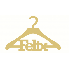 6mm Boys Personalised Coat Hanger Personalised and Bespoke