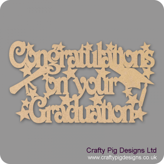 3mm MDF Congratulations on your Graduation sign Graduation