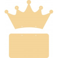 3mm mdf crown with hanging plaque Basic Plaque Shapes