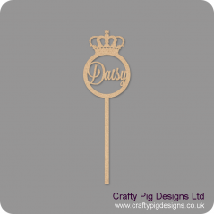 3mm mdf  Personalised Crown Wand Personalised and Bespoke