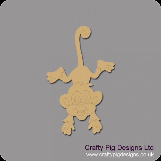 3mm MDF Cheeky Monkey Animal Shapes