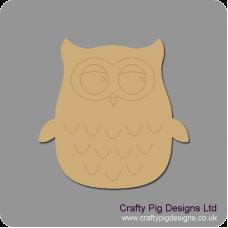 3mm MDF Cute Owl Animal Shapes