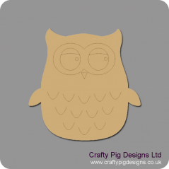 3mm MDF Cute Owl
