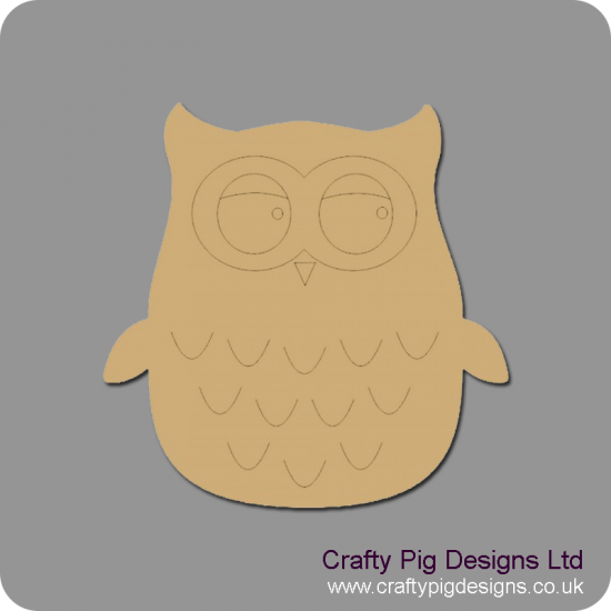 3mm MDF Cute Owl Animal Shapes