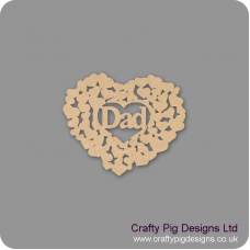 3mm MDF Dad heart of hearts Hearts With Words
