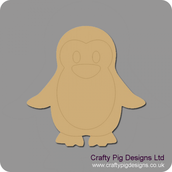 3mm MDF Daddy Penguin Christmas Shapes