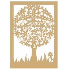 3mm MDF Framed Daisy Tree (includes 10 hearts) Trees Freestanding, Flat & Kits