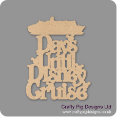 3mm MDF Days Until Disney Cruise Chalkboard Countdown Plaques