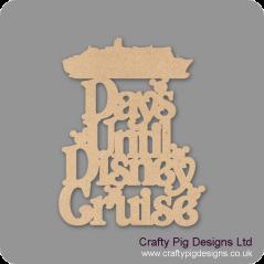 3mm MDF Days Until Disney Cruise Chalkboard Countdown Plaques