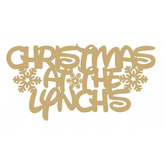 3mm MDF Waltograph Christmas at the ......... with snowflakes Personalised and Bespoke