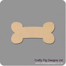3mm MDF Dog Bone Shape (by width) Animal Shapes