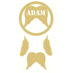 3mm mdf Personalised Angel Wing Dream Catcher Personalised and Bespoke