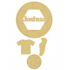 3mm mdf Personalised Football Dream Catcher