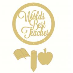 3mm mdf Worlds Best Teacher Dream Catcher Teachers