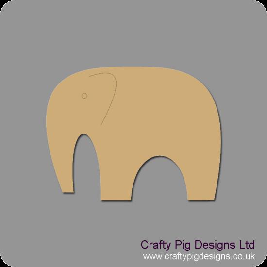 3mm MDF Elephant Shape Animal Shapes