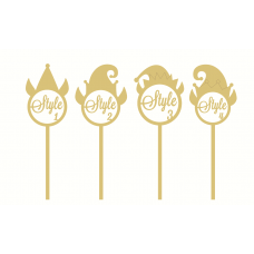 3mm mdf  Personalised Elf Wand Christmas Shapes