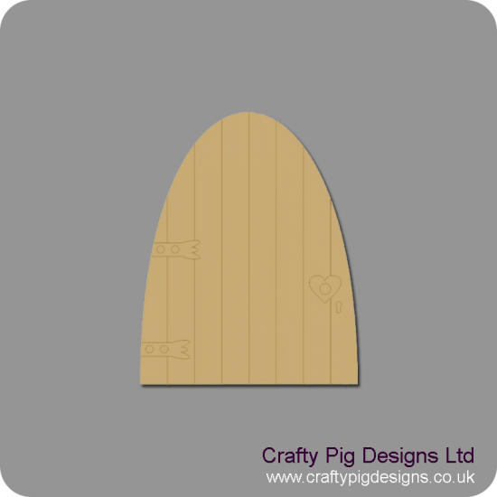 3mm MDF Fairy Door with etched lines, hinge and door knob Fairy Doors and Fairy Shapes